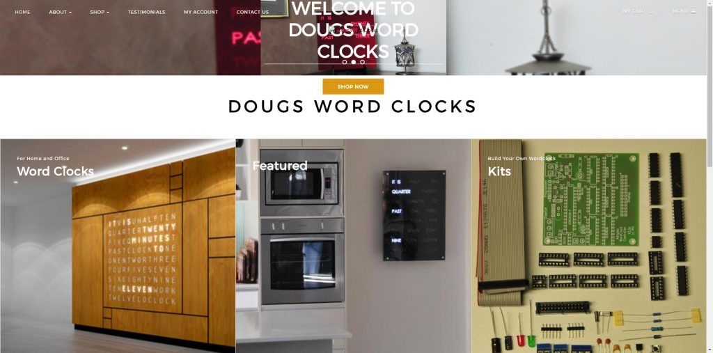 Charming Dougs Word Clocks Design